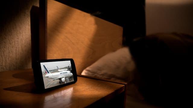 Air France a lancé une appli qui marche la nuit.