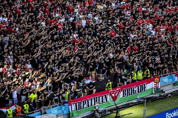 Les bouillants supporters hongrois pendant le match face au Portugal