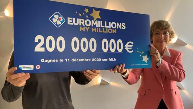 Le vainqueur français du 200.000.000 euros à l'EuroMillions.