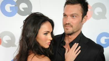 Les acteurs américains Megan Fox (g) et Brian Austin Green le 8 novembre 2008 à Los Angeles, en Californie