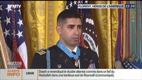 Le soldat d'origine française Florent Groberg a été décoré par Barack Obama