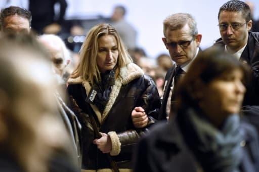 Ingrid Brinsolaro, veuve de Franck Brinsolaro, le policier tué lors de l'attaque contre Charlie Hebdo, le 16 janvier 2015 à Pontoise