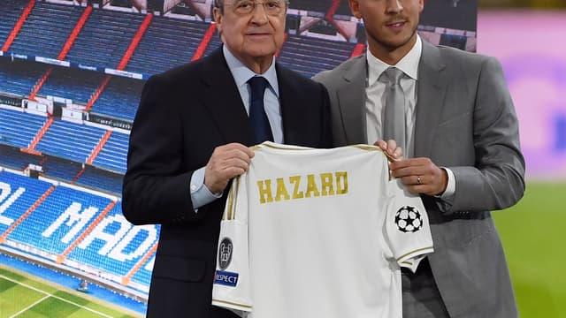 Florentino Perez et Eden Hazard