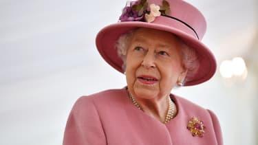 La reine Elizabeth II, le 15 octobre 2020 à Salisbury au Royaume-Uni