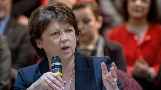 Martine Aubry, le 9 mars 2015 à Lille