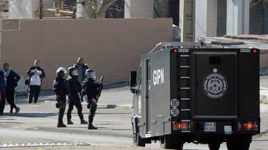 Une intervention dans le quartier de la Castellane à Marseille le 9 février 2015