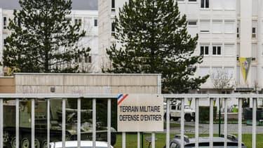 Les quartiers militaires de Varces-Allières-et-Risset, dans l'Isère, le 29 mars 2018.