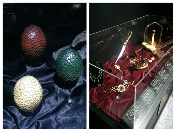 Des objets et accessoires de la série Game Of Thrones
