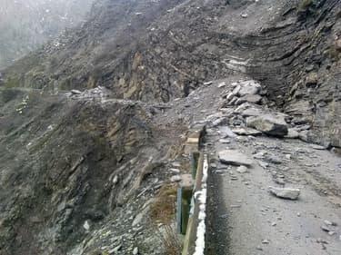 Un important glissement de terrain a eu lieu à Uvernet-Fours