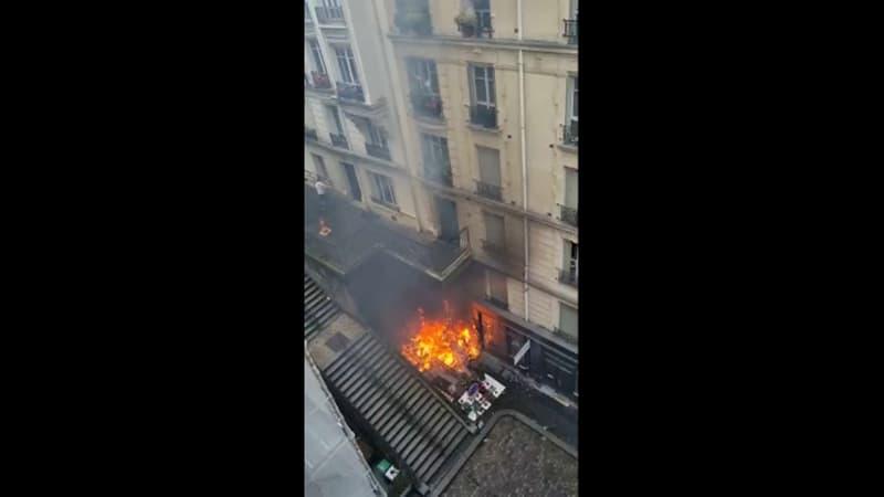 Paris: incendie dans le 18e arrondissement, 10 personnes légèrement intoxiquées par les fumées