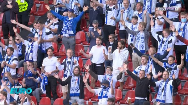 Les supporters scandent le nom d'Eriksen