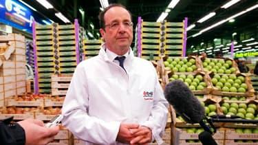 François Hollande a voulu déminer le terrain ce matin à Rungis