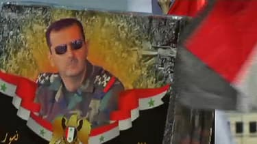 Dans les rues de Damas, lundi: manifestation de partisans du président syrien.