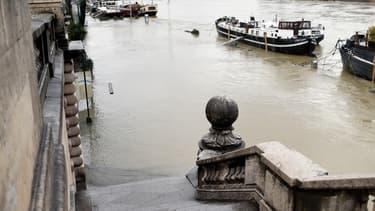 La Seine à Paris, photographiée le 22 janvier 2018.