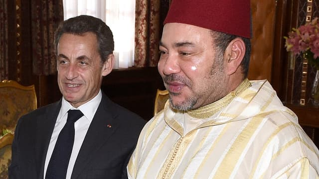 Nicolas Sarkozy avec le roi du Maroc Mohammed VI en juin 2015