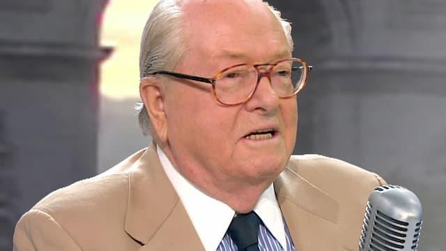 Jean-Marie Le Pen, lundi matin sur BFMTV et sur RMC.
