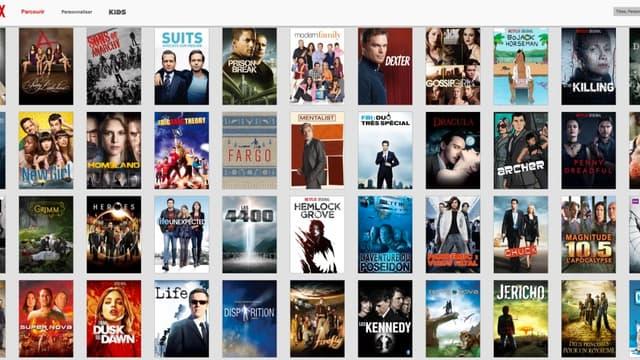 L'offre française de Netflix comprend déjà une cinquantaine de séries américaines