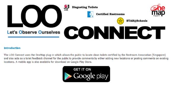 La page Facebook de l'application LOO.