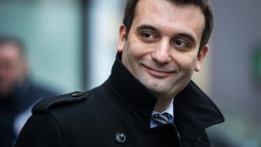 Florian Philippot, vice-président du Front national, lors de sa campagne pour les régionales le 1er décembre 2015.
