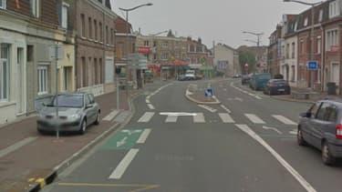 Rue de Dunkerque à Lomme, lieu de la fusillade (Nord-pas-de-Calais)