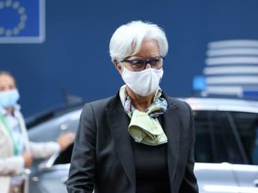 la présidente de la Banque centrale européenne Christine Lagarde, le 25 juin 2021 à Bruxelles