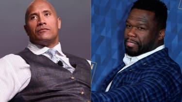 L'acteur Dwayne Johnson et le rappeur 50 Cent.