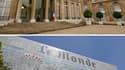 La presse internationale fait bonne place mardi à l'attaque du Monde contre l'Elysée, alors que la quasi-totalité des quotidiens français n'évoquent pas en première page cette violation présumée du secret des sources. /Photos d'archives/REUTERS/Benoît Tes