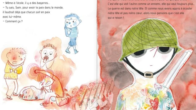 """""""Sam & Watson préfèrent la paix!"""" de Ghislaine Dulier et Bérengère Delaporte"""