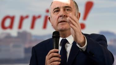Didier Guillaume lors de l'annonce de sa candidature