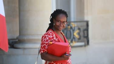 Sibeth Ndiaye, alors porte-parole du gouvernement, a quitté le Conseil des ministres à l'Elysée, le 24 juin 2020