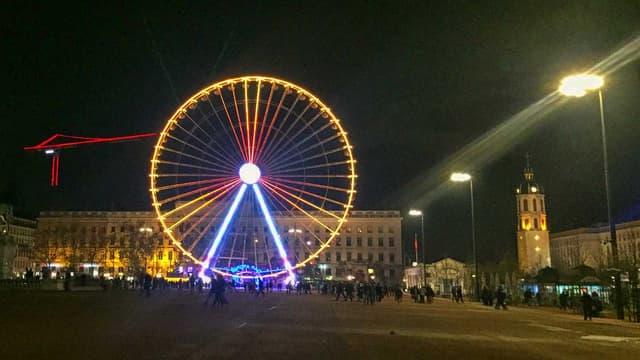 La place Bellecour à Lyon, en novembre 2015.