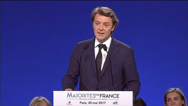 François Baroin lors du meeting des Républicains ce samedi à Paris.
