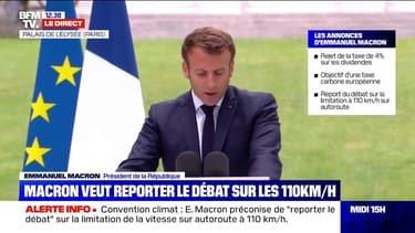 """Emmanuel Macron """"prêt"""" à un référendum sur l'écologie en 2021"""