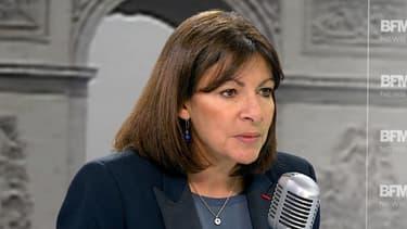 Anne Hidalgo sur BFMTV, le 10 janvier.