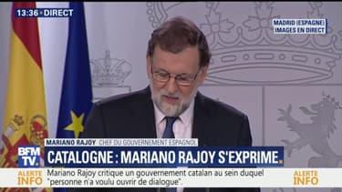 Catalogne: Mariono Rajoy souhaite de nouvelles élections régionales