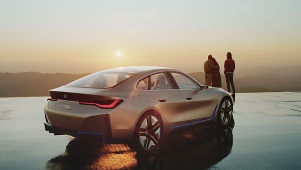 BMW a dévoilé cette semaine le Concept i4, qui préfigure sa berline 100% électrique i4, attendue l'an prochain.