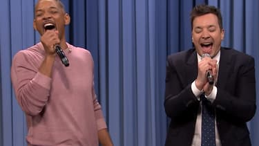 "Will Smith et Jimmy Fallon, jeudi 22 mars dans le ""Tonight Show"""