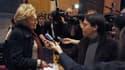 """Bernadette Chirac s'est félicitée vendredi de l'entrée en lice de Nicolas Sarkozy dans la campagne présidentielle, saluant un homme """"très intelligent"""" qui a """"l'expérience d'un mandat"""". /Photo prise le 17 février 2012/REUTERS/Caroline Blumberg"""