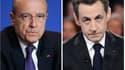 Les deux rivaux, Alain Juppé (gauche) et Nicolas Sarkozy.