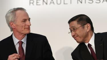 Jean-Dominique Senard, président de l'alliance Renault-Nissan, et Hiroto Saikawa, PDG de Nissan, sont dans le viseur de Carlos Ghosn