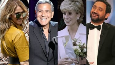 Céline Dion, George Clooney, Lady Di et Cyril Hanouna dans l'actualité de la semaine