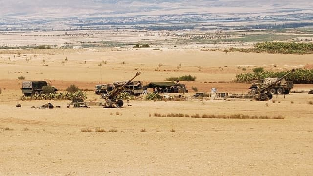 Des forces tunisiennes dans la région du Chaambi.