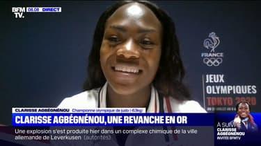 """""""Je suis toujours sur mon nuage"""": Clarisse Agbégnénou témoigne sur BFMTV au lendemain de son titre olympique"""