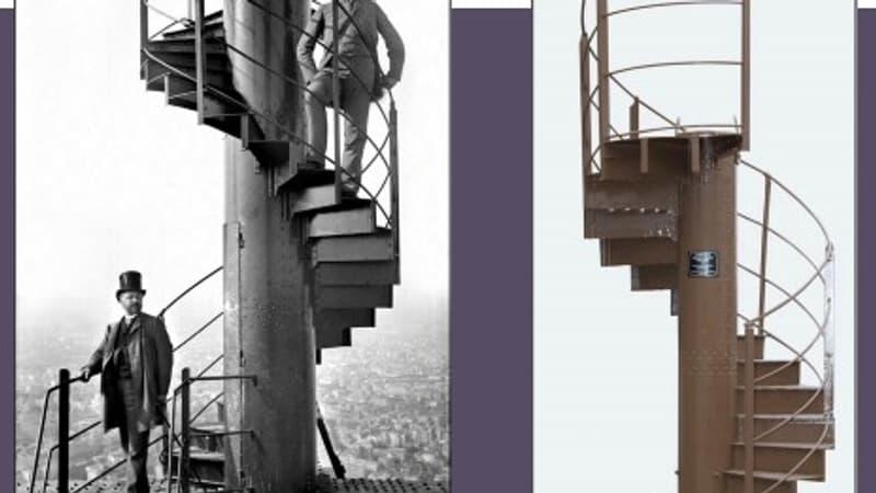 Un tronçon d'un escalier de la Tour Eiffel adjugé 274.475 euros aux enchères