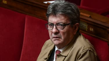 Jean-Luc Mélenchon sur les bancs de l'Assemblée nationale, le 25 septembre 2019