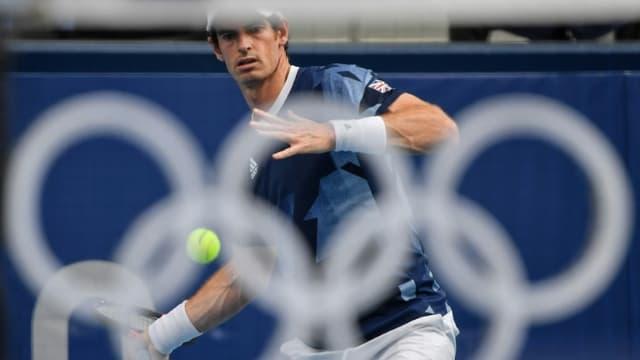 Le Britannique Andy Murray lors d'un entraînement à Tokyo, le 22 juillet 2021