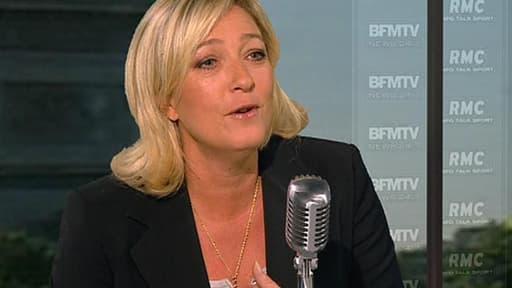 Marine Le Pen estime scandaleux que la loi s'applique « à certains et pas à d'autres ».