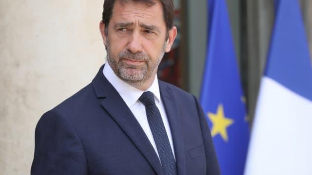 Christophe Castaner sur le péron de l'Elysée.