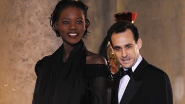Joseph Zimet (au côté de son épouse Rama Yade) à l'Elysée, le 10 mars 2008