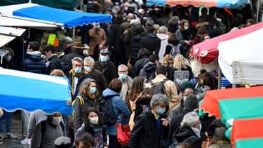 Marché de Rennes (Ille-et-Vilaine) en mars 2021